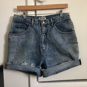 Vintage Stefano World Wide Denim Jean Shorts Sz 18